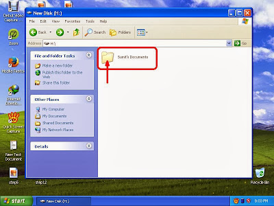 Learn how to unhide files and folders in windowsXP step5