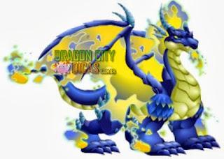 Dragão Fogo Azul