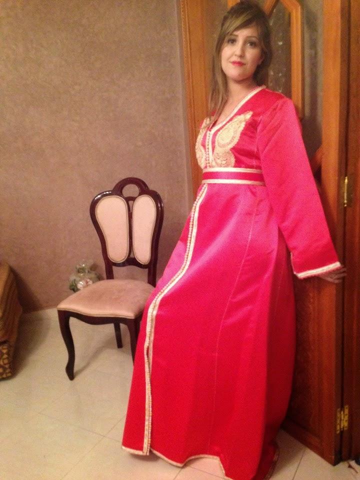 caftan marocain rose 2015