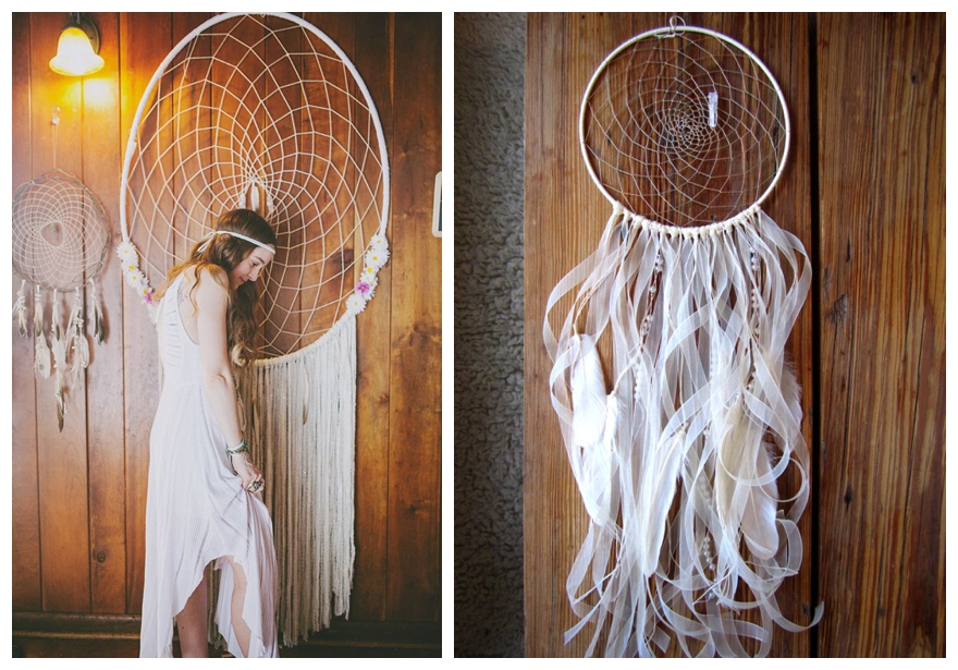 How To Make A Big Dream Catcher A Boho Dreamcatcher Wedding Theme 9
