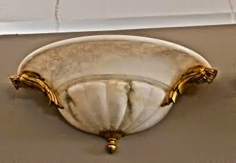 MJH DESIGN ARTS  One of a Pair of Large Alabaster Sconces!
