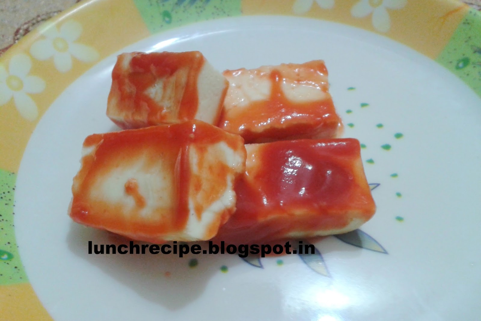 Grilled Paneer With Chilli Plum Sauce