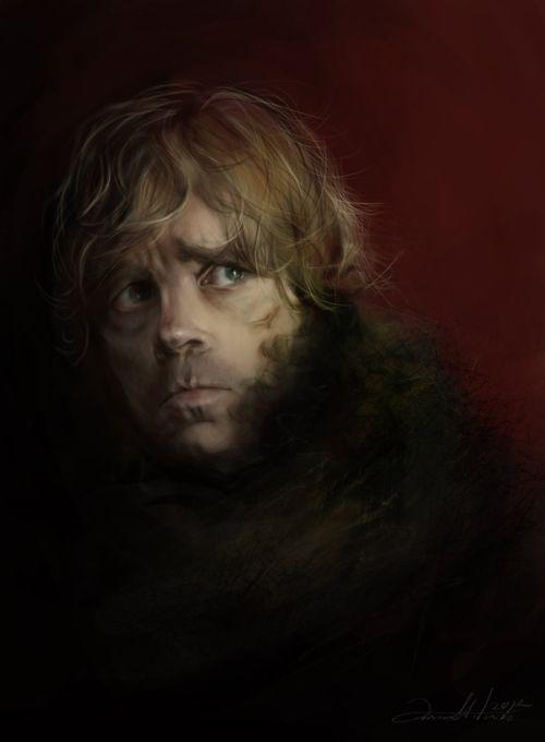 Ania Mitura DalisaAnja deviantart ilustrações fantasia sombria Game of Thrones - Tyrion Lannister