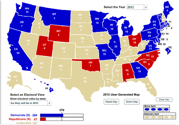 Future Demons Future Predictions For Barack Obamas Presidency - Us Map Presidential Predictions