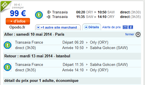 Low cost Istanbul Transavia