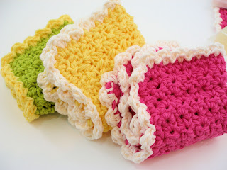 crochet soap handcrafted washcloth teacher gift cotton