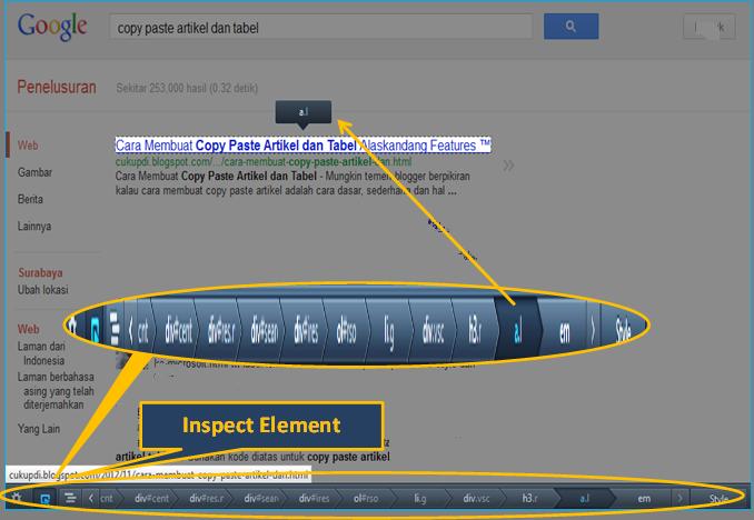 Inspect Element Mengetahui Kode HTML & CSS Web Blog