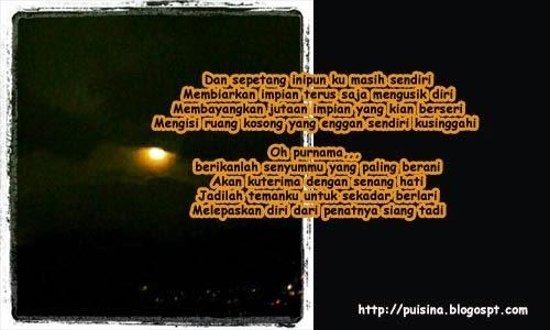 Puisi Bersahabat dengan Purnama