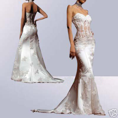 Sheer Corset Wedding Dresses