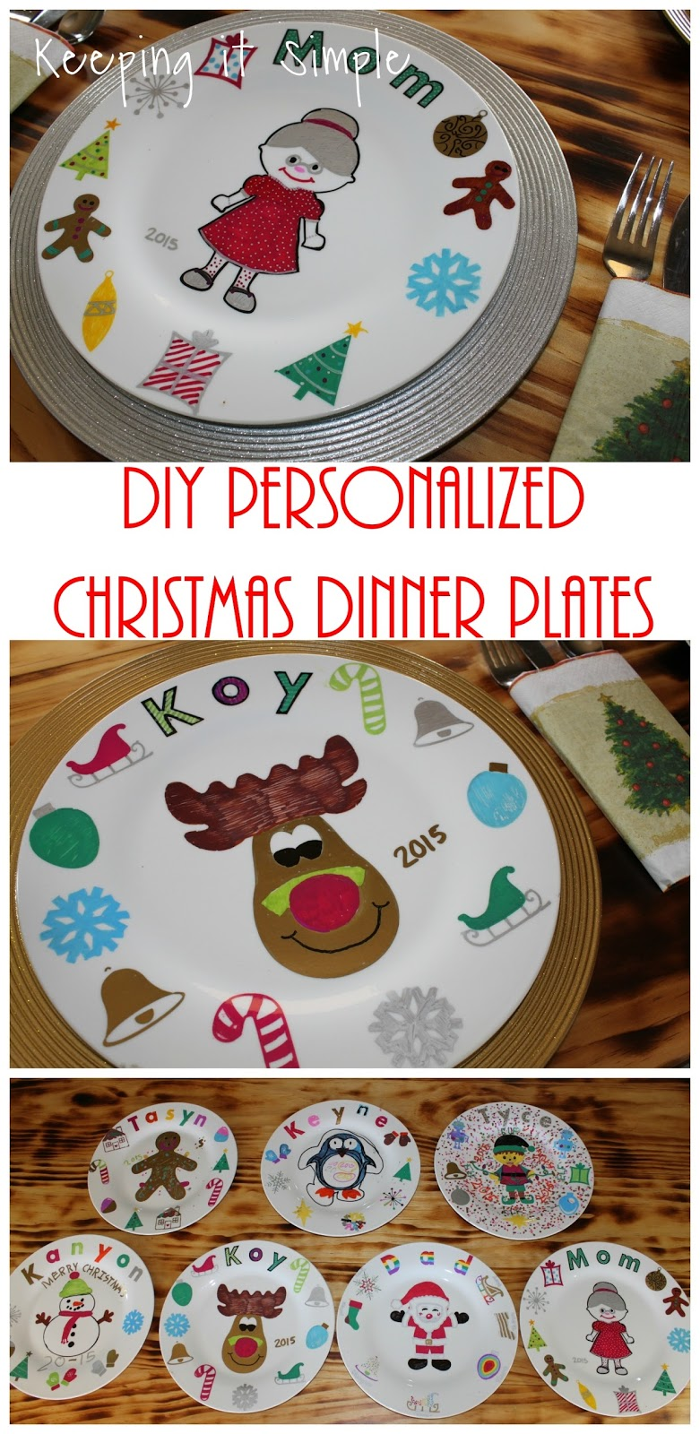 We used the Christmas dinner plates and put the food directly onto the plate and then hand washed them. They did fine but because I want these to last I ... & Christmas Family Tradition- DIY Personalized Christmas Dinner Plates ...