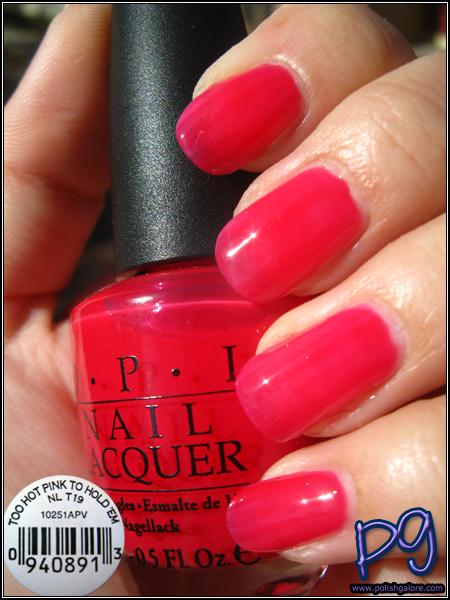 OPI Too Hot Pink To Hold 'Em - Polish Galore  Opi Nail Polish Hot Pink