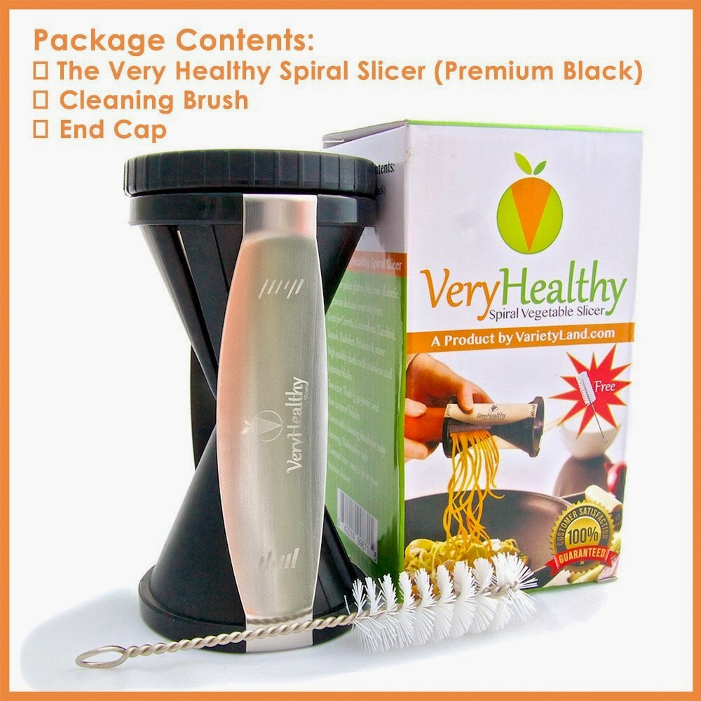 Healthy Vegetable Spiralizer Review + Giveaway #veryhealthy