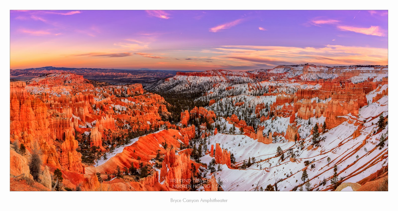 The Bryce Canyon Rim Trail Amphitheater