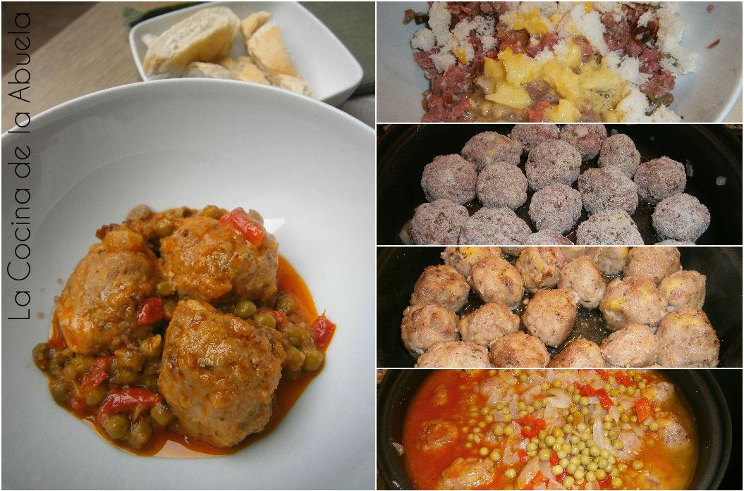 Alb ndigas caseras receta f cil la cocina de la abuela - Acompanamiento para albondigas ...