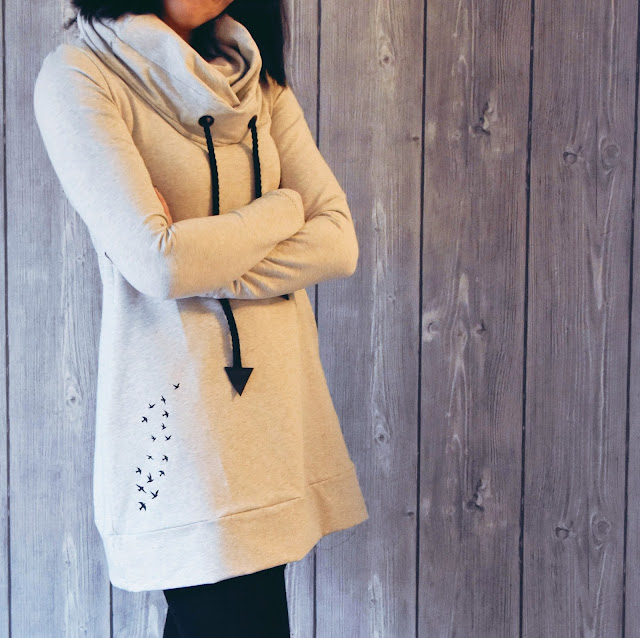 GrinseStern, Genäht, pullikleid, sweater, rollkragenpullover, sweater, nähliebe
