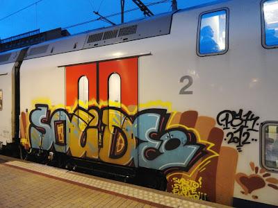 trein graffiti