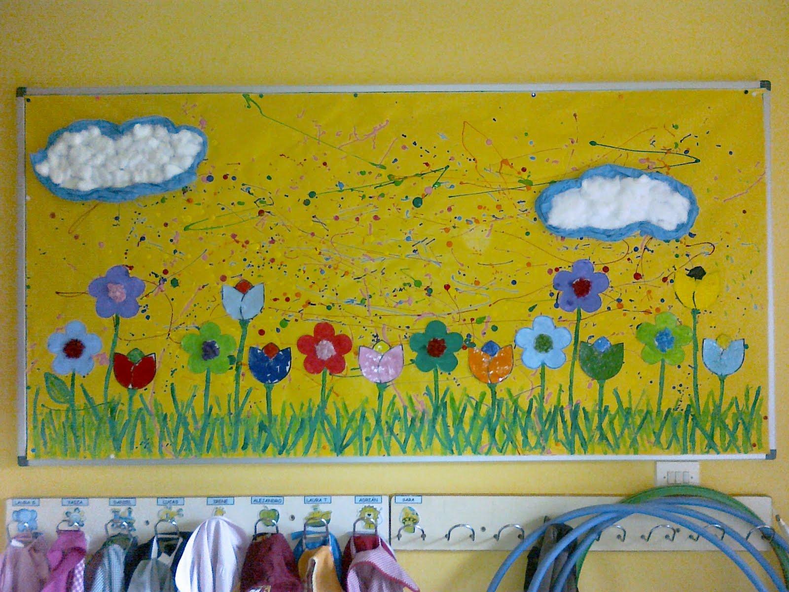 Peri dico mural primavera educaci n preescolar la revista for Como elaborar un periodico mural