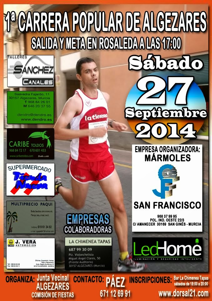 I CARRERA POPULAR ALGEZARES 2014