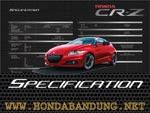 Fitur Spesifikasi Mobil New Honda CRZ