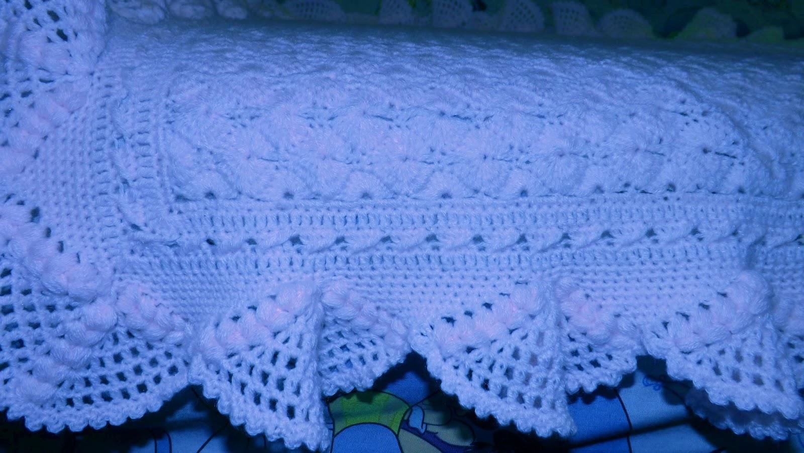 Tejido a crochet manta beb rosa - Manta de bebe a ganchillo ...