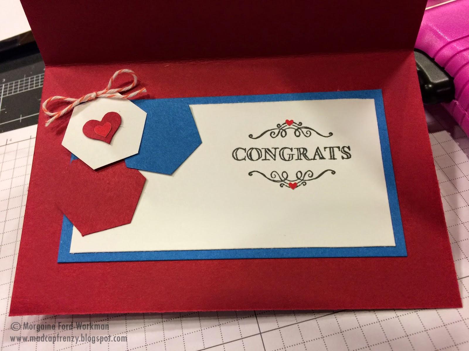 Madcap Frenzy's wedding card inside