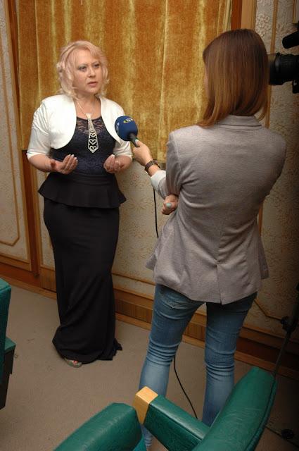 Лилия Золотоноша дает интервью