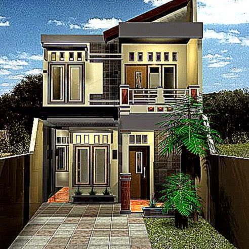 Desain Rumah Minimalis Modern Dua Lantai Type 90  iDea Rumah Idaman