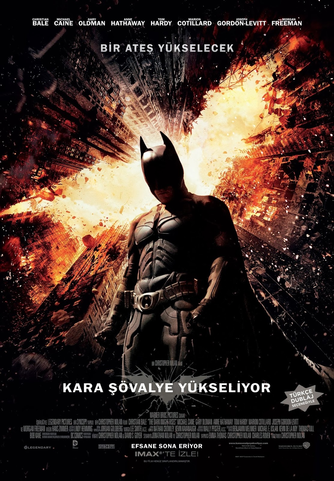 Kara Şovalye Yükseliyor - The Dark Knight Rises 2012 BluRay 1080p Film İndir