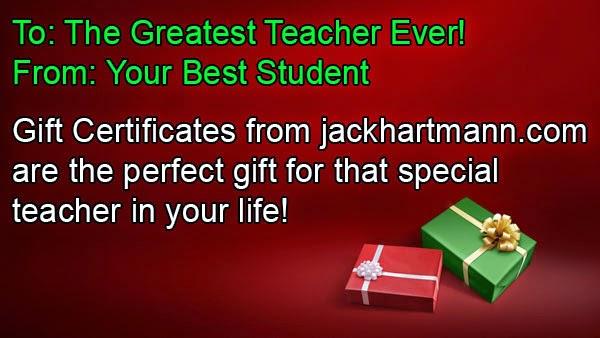 Jack Hartmann Gift Certificates