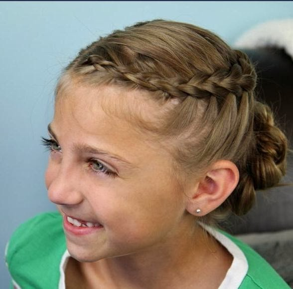 Cute updos for short hair for kids