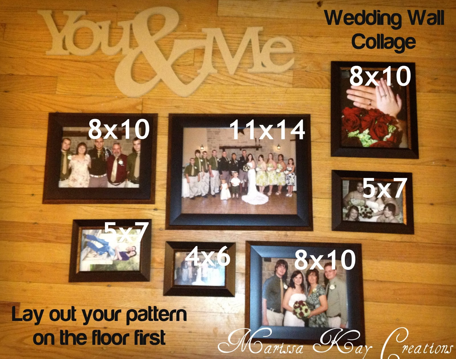 Marissa Kay Creations Wedding Wall Collage