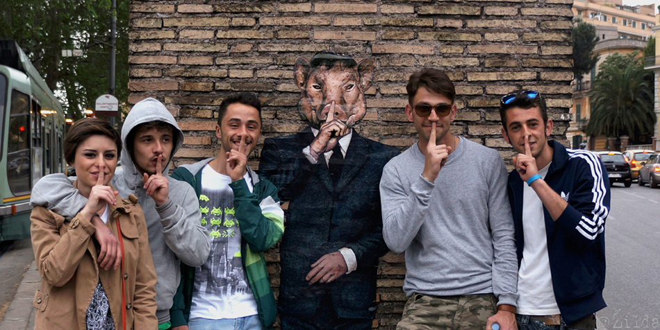 zilda street art pasolini roma
