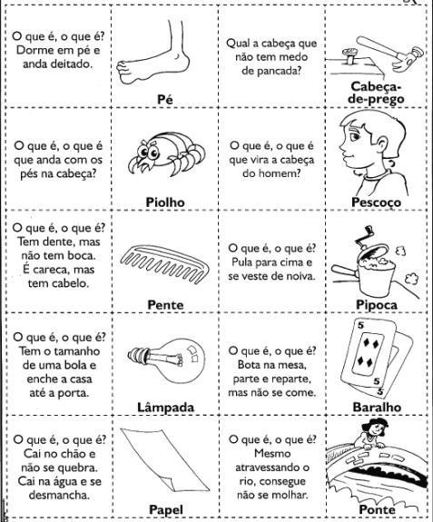 Top Folclore - Atividades Com Adivinhas Para Imprimir - Blog Cantinho  SD92