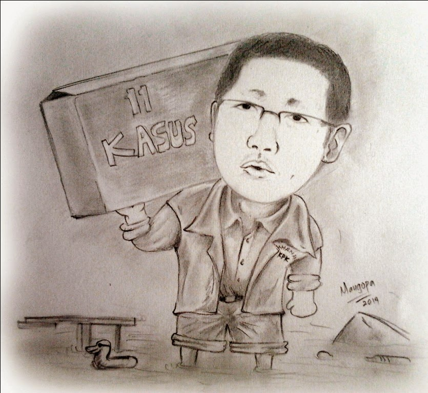 Karikatur Anas Urbaningrum (Banjir Kasus)