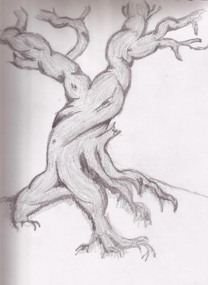 Dibujar arboles a lapiz - Imagui