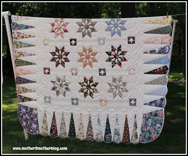 Amish, Amish quilts, Amish handmade quilts, Dahlia quilt, Lancaster PA quilts