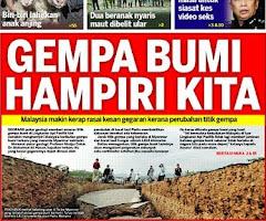 GEMPA BUMI MENGHAMPIRI MALAYSIA