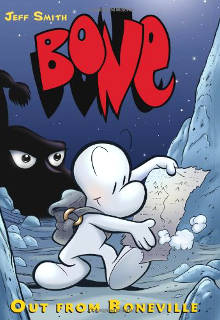 Cover of Out from Boneville, the 1st Bone graphic novel