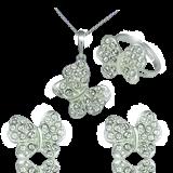 Set náušnic Swarovski s příveškem a prstýnkem