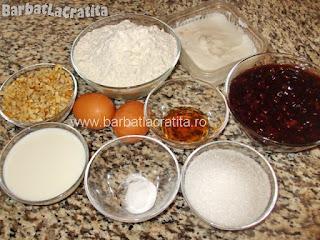 Prajitura Linzer cu gem si nuca ingrediente reteta