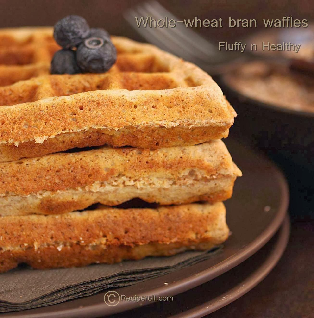 bran waffles | whole wheat bran waffles