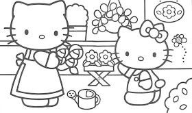 Desenhos Para Colorir o hello kitty in