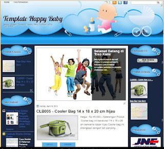 blogger template toko online hapy baby modifikasi