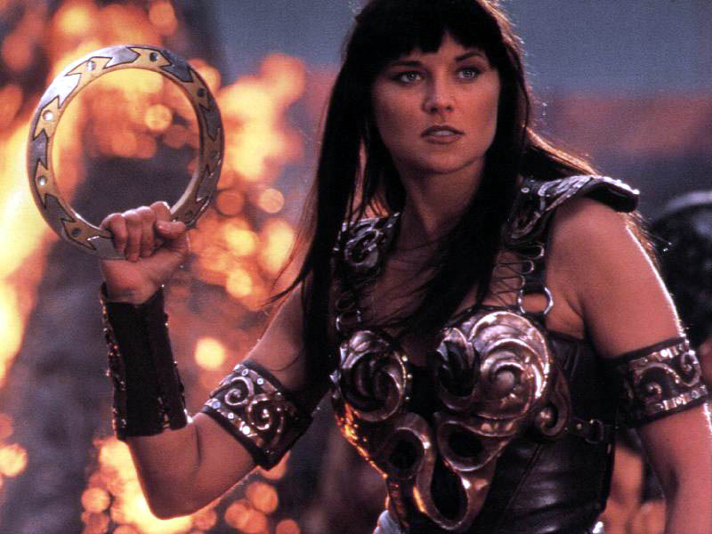 Xena Warrior Princess played by Lucy Lawless