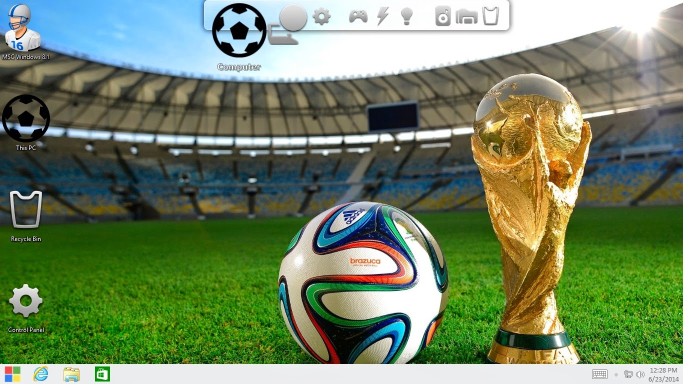 FIFA World Cup 2014 Football Transformation Pack for Windows 7 / 8 / 8.1