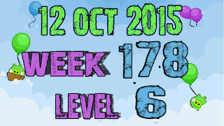 Angry Birds Friends Tournament level 6 Week 178