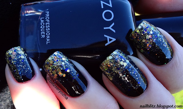 Glitter Gradient Nails with Zoya Willa and Frenzy Polish All Magic Comes with a Price
