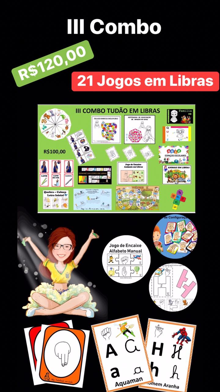 III COMBO TUDÃO EM LIBRAS