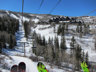 Taking the lift up to Beaver Creek past the Ritz-Carlton