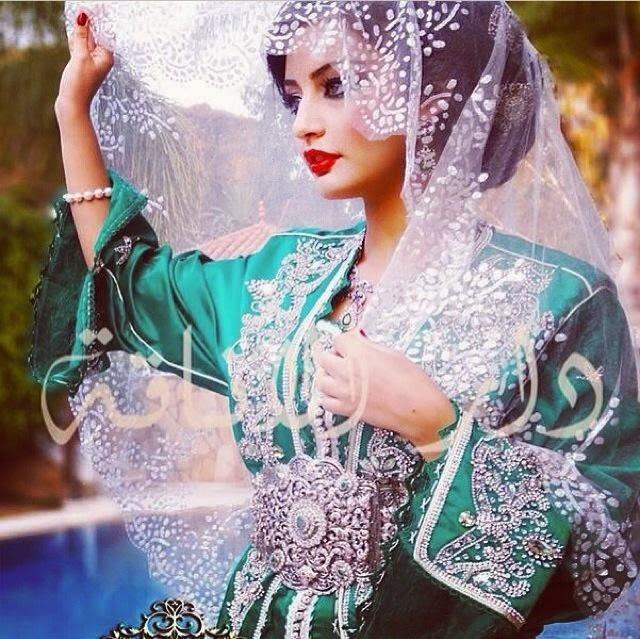 caftan vert 2015 sari